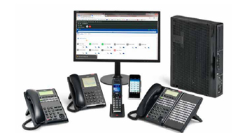 Various Types of Telephones With Monitor